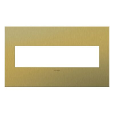 adorne 4-Gang Wall Plate Finish: Brushed Brass