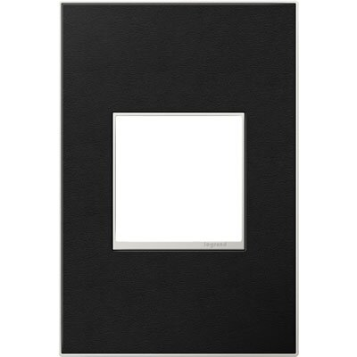 adorne 1-Gang Wall Plate Finish: Black Leather