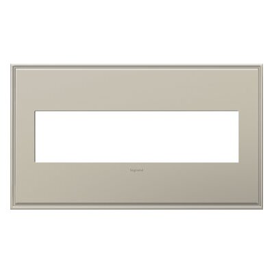 adorne 4-Gang Wall Plate Finish: Antique Nickel