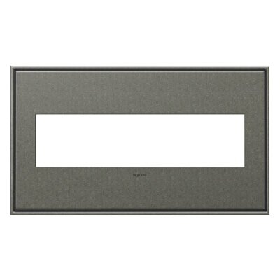 adorne 4-Gang Wall Plate Finish: Brushed Pewter