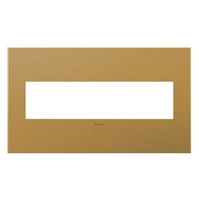 adorne 4-Gang Wall Plate Finish: Satin Bronze