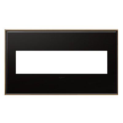 adorne 4-Gang Wall Plate Finish: Oil-Rubbed Bronze