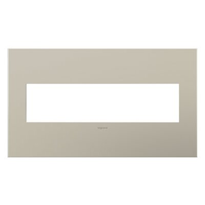 adorne 4-Gang Wall Plate Finish: Satin Nickel
