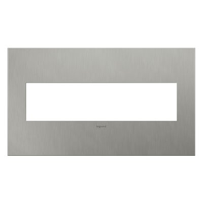 adorne 4-Gang Wall Plate Finish: Brushed Stainless Steel