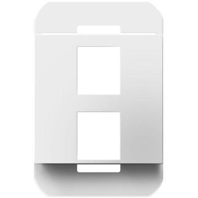 adorne 2 Port Frame Finish: White