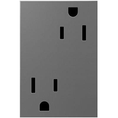 adorne Tamper-Resistant Outlet, 3-Module Finish: Magnesium