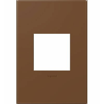 adorne 1-Gang Wall Plate Finish: Cappuccino
