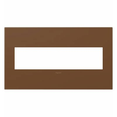 adorne 4-Gang Wall Plate Finish: Cappuccino