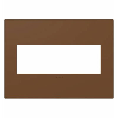 adorne 3-Gang Wall Plate Finish: Cappuccino