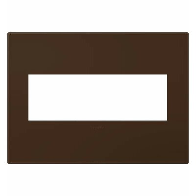 adorne 3-Gang Wall Plate Finish: Truffle