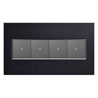 Adorne Hubbardton Forge 4-Gang Wall Plate Finish: Black