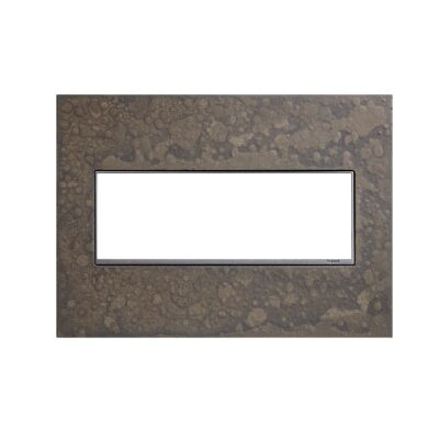 Adorne Hubbardton Forge 3-Gang Wall Plate Finish: Burnished Steel