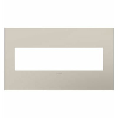 adorne 4-Gang Wall Plate Finish: Greige