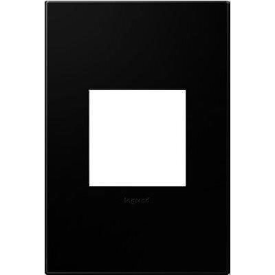 adorne 1-Gang Wall Plate Finish: Black Ink