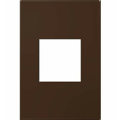 adorne 1-Gang Wall Plate Finish: Truffle