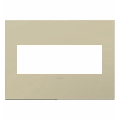 adorne 3-Gang Wall Plate Finish: Ashen Tan