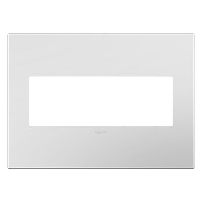 adorne 3-Gang Wall Plate Finish: Powder White