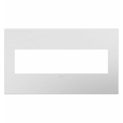 adorne 4-Gang Wall Plate Finish: Powder White