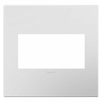 adorne 2-Gang Wall Plate Finish: Powder White