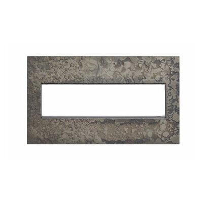 Adorne Hubbardton Forge 4-Gang Wall Plate Finish: Burnished Steel