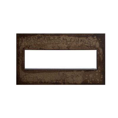 Adorne Hubbardton Forge 4-Gang Wall Plate Finish: Dark Smoke