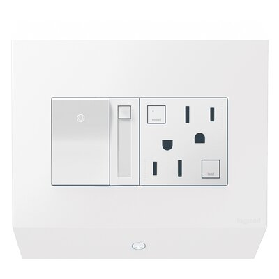adorne 2-Gang Control Box Finish: White