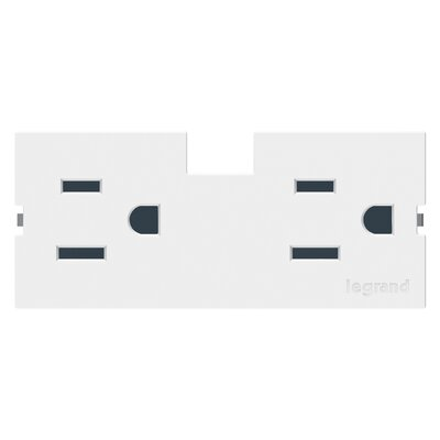 adorne Outlet Module (15A) Finish: White
