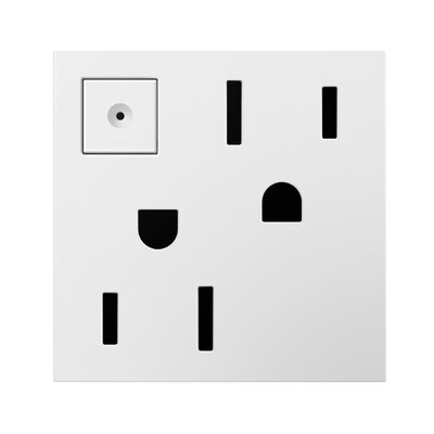 Energy-Saving Wall Mounted On/Off Outlet Finish: White