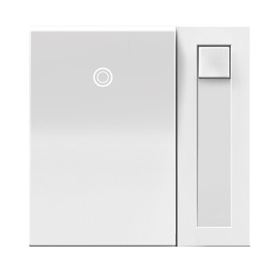 Adorne Wall Mounted Paddle Dimmer Finish: White