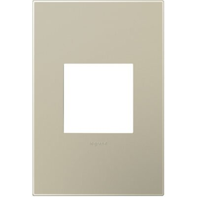 adorne 1-Gang Wall Plate Finish: Titanium