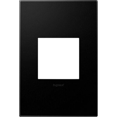adorne 1-Gang Wall Plate Finish: Graphite