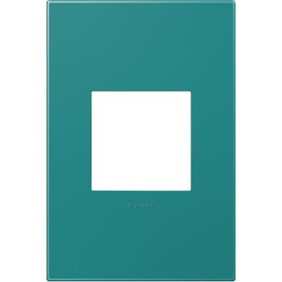 adorne 1-Gang Wall Plate Finish: Turquoise Blue