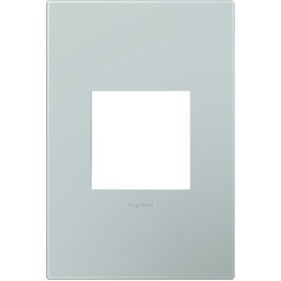 adorne 1-Gang Wall Plate Finish: Pale Blue