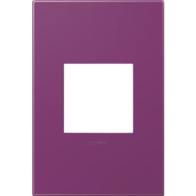 adorne 1-Gang Wall Plate Finish: Plum