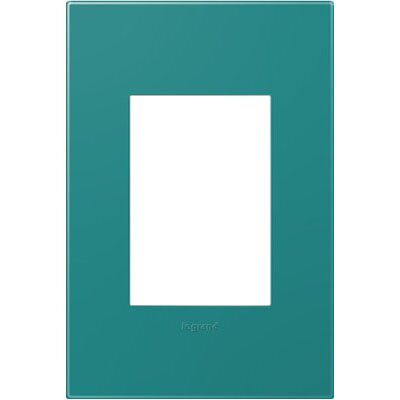 adorne 1-Gang, 3-Module Wall Plate Finish: Turquoise Blue