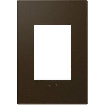 adorne 1-Gang, 3-Module Wall Plate Finish: Bronze