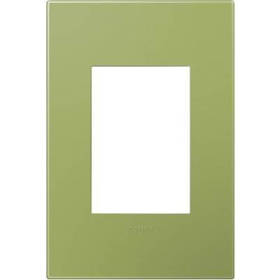 adorne 1-Gang, 3-Module Wall Plate Finish: Lichen Green
