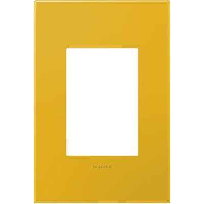 adorne 1-Gang, 3-Module Wall Plate Finish: Honey