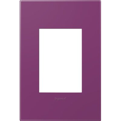 adorne 1-Gang, 3-Module Wall Plate Finish: Plum