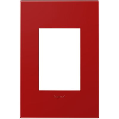 adorne 1-Gang, 3-Module Wall Plate Finish: Cherry