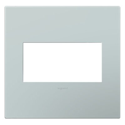 adorne 2-Gang Wall Plate Finish: Pale Blue
