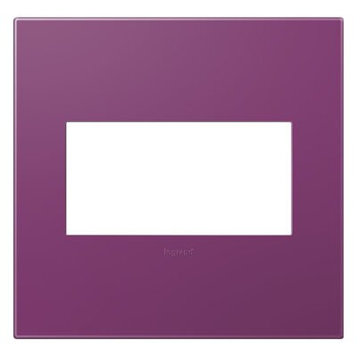 adorne 2-Gang Wall Plate Finish: Plum