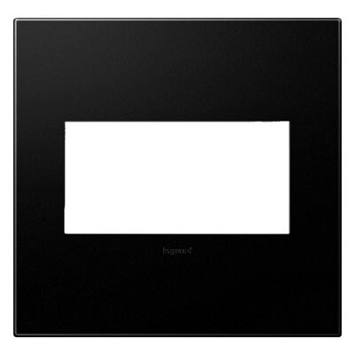 adorne 2-Gang Wall Plate Finish: Graphite
