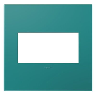 adorne 2-Gang Wall Plate Finish: Turquoise Blue