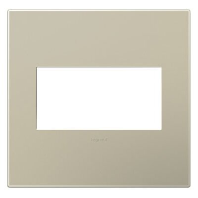 adorne 2-Gang Wall Plate Finish: Titanium