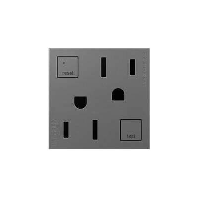 adorne Tamper-Resistant GFCI Outlet Finish: Magnesium