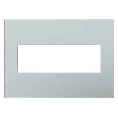 adorne 3-Gang Wall Plate Finish: Pale Blue