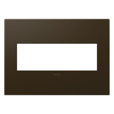 adorne 3-Gang Wall Plate Finish: Bronze