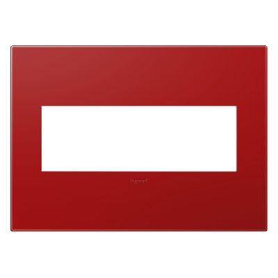 adorne 3-Gang Wall Plate Finish: Cherry
