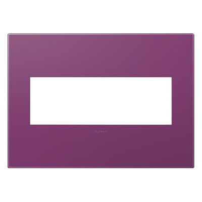 adorne 3-Gang Wall Plate Finish: Plum